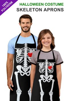 These Skeleton Aprons are ideal for Halloween Costumes both for Adults and Kids. These customizable Aprons are made of a top quality polyester, our fully sublimation designs will definitely make a great impression.