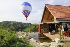 PURESLeben // Heißluftballonfahrt // Stadl am Tunauberg // Premiumferienhaus in der Südsteiermark