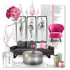 feelin pinkish by designsbylea on polyvore featuring interior interiors interior design home - Cyan Hotel Decorating