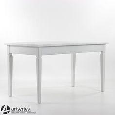 Biały stół kuchenny jadalniany 60753 z drewna