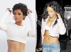 Hair Extensions Before and After at Blog.vpfashion.com Rihanna black curly short and long hair styles celebrity black long hairstyles changed from short curls with hair extensions