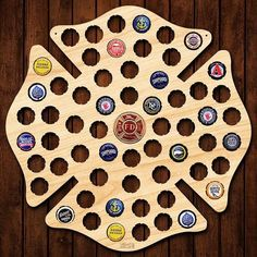 Our Firefighter Maltese Cross Beer Cap Sign Is The Coolest Gift For Firefighters Wooden