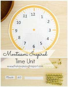 Montessori Inspired Time Theme -- exploring units of time with preschoolers