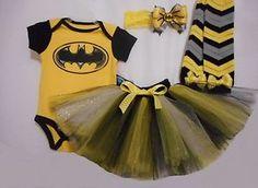 Girls Handmade Batman Tutu Outfit Halloween Infant Toddler Various Sizes | eBay