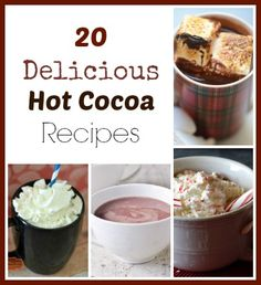 20 hot cocoa recipes - great for gift ideas!