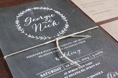 SUNSHINE CONFETTI // #chalkboard #papergoods #invitation #wedding #rsvp #customdesign #handmade #twine #kraftpaper