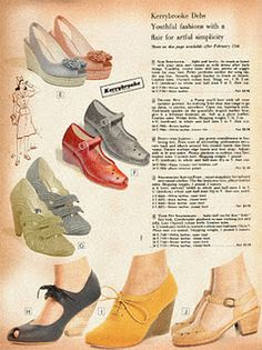1000 images about shoes 1940s 50s on