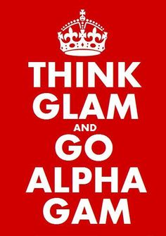 It would be cool to make this as a large poster with red glitter as the background. Could be cool bid day decor.