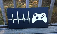 Painted canvas - video gamer decor - gamer wall art This is a painted canvas sign. This is great wall art for any gamer! This is a stretched canvas so Canvas Art Projects, Art Projects For Teens, Canvas Ideas, Boys Game Room, Game Rooms, Grand Art Mural, Deco Gamer, Gamer Bedroom, Bedroom Gaming Setup