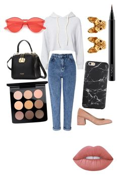 """""""Untitled #64"""" by daniela-paulica on Polyvore featuring Miss Selfridge, Whistles, Monrow, Lime Crime and MAC Cosmetics"""