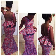 Ankara Dress Styles : Beautiful Collection of Ankara Styles African Print Dresses, African Dresses For Women, African Attire, African Wear, African Fashion Dresses, African Women, African Beauty, African Prints, African Shop