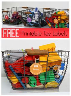 Free Printable Toy Labels. Great way to clean up clutter and teach kids how to stay organized.