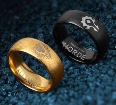 Warcraft Horde and Alliance Rings – Inspiring Wave