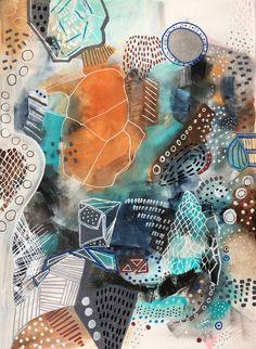 "Saatchi Art Artist Melanie Biehle; Painting, ""Topanga Dreamcatcher"" #art"
