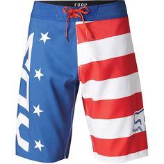 0b0f866220 Fox Red, White and True Boardshort - Fox Racing Guys Shorts, Fox Head,