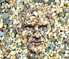 Face of rocks or rocks painted on face?!