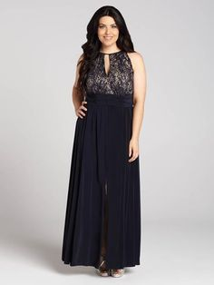 Laura Plus: for women size 14 . Dress to impress in this stunning sleeveless navy gown. Featuring a beautiful sequined top, a keyhole at the neck and ruching at the waist, this gown is flattering and elegant....5010103-8636