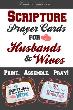 These scripture prayer cards for husbands & wives are the BEST tool to help you pray specifics over your spouse. They're also the perfect DIY gift!