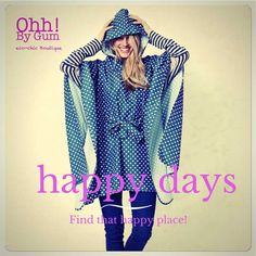 Pack away this poncho next time you are going for day out, to a festival or even to work. This beautiful poncho folds into it's own contained bag. Not only will you look super cool but it will keep you sorted in the showers of spring. Sustainable Clothing, Raincoat, Bell Sleeve Top, Boutique, Chic, Showers, Jackets, Clothes, Beautiful