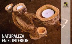 Candelabro Terra Mia. Managua, Nicaragua #candles #wood #sticks #handmade #nicaragua #masaya #decor
