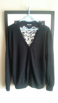 Hot topic size large super cute spine cardigan