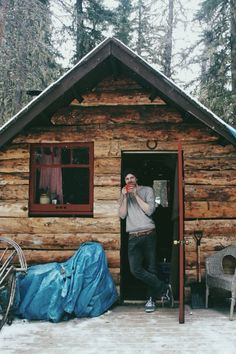 Cabin and a coffee
