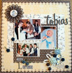 Heidi has used several papers and products from Papirdesign on this layout