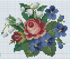 Ponto cruz: Gráficos de Flores em Ponto Cruz.