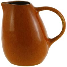 Jars Tourron Pitcher - Small - Orange (115 BRL) ❤ liked on Polyvore featuring home, kitchen & dining, serveware, orange, stoneware jars, orange stoneware, colored jars and stoneware pitcher