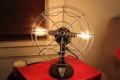 Vintage eskimo polished weblike fan light fixture by industrialighting. Explore more products on http://industrialighting.etsy.com