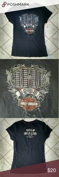 Official Harley Davidson women's tee shirt Worn once. In perfect condition! Check out my closet for a few other Harley shirts! Harley-Davidson Tops Tees - Short Sleeve