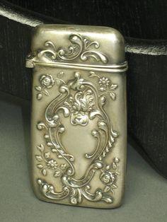 Ladies MATCH SAFE Vesta prior to 1920 Art Nouveau by TheIowaBarn