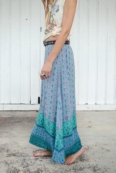 Desert Wanderer Maxi Skirt - Dawn