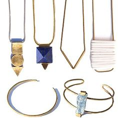 Minimalist, geometric and detailed with genuine gems and minerals, Hey Murphy is an Austin-based line of handmade jewelry that instantly catches the eye.