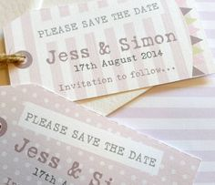 Garden Party Wedding Save The Date Card Tags - notonthehighstreet.com