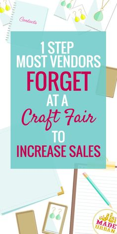 1 Step most Vendors Forget at a Craft Fair to Increase Sales Handmade product? You'll all ready for your craft fair right? There's one thing most vendors forget. Business Help, Craft Business, Home Based Business, Business Ideas, Business Planning, Etsy Business, Silhouette Curio, Craft Font, Craft Fair Displays