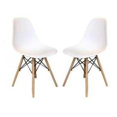 Chaise Lot de 2 Chaises Cosy - Blanc