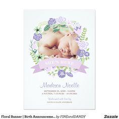 Floral Banner | Birth Announcement