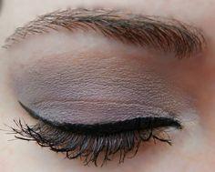 Base: Sandstone Pearl ShadowSense Blending: Pink Frost ShadowSense Accent: Amethyst ShadowSense Liner: Black EyeSense Mascara: Brown LashSense Brows: BrowSense; Match to brow color