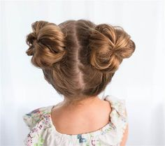 Messy pigtails hairstyle for kids