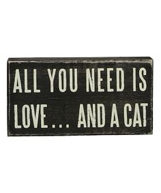 Love & Cat Box Sign