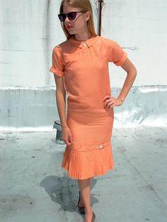 vintage 60's creamsicle shift dress