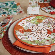 Imari by WILLIAMSBURG paper plates and napkins