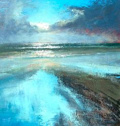 Martin Bullivant ~ How It All Began abstract art painting Seascape Paintings, Nature Paintings, Beautiful Paintings, Art Nature, Abstract Paintings, Oil Paintings, Painting Art, Watercolor Painting, Landscape Art