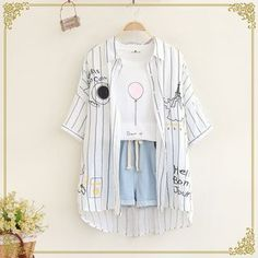 Buy 'Fairyland – Short-Sleeve Striped Shirt' with Free International Shipping at YesStyle.com. Browse and shop for thousands of Asian fashion items from China and more!