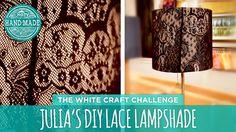 Julia's DIY Lace Lampshade - HGTV Handmade White Craft Challenge