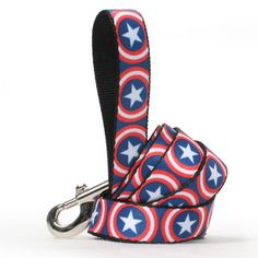 Captain America Dog Leash. Show everyone who the true captain is!