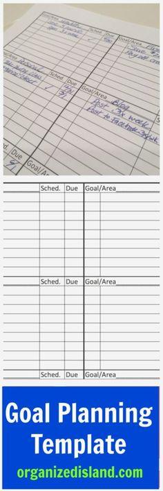 Goal Setting Planner Template   Planner Template Goal Settings