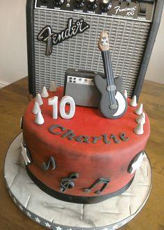 Boys guitar cake