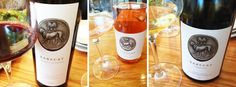 Three wines from Rarecat wine including the Brigitte Rosé, Charles Heintz Chardonnay and Old Toll Cabernet Sauvignon